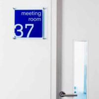 acrylic room ID sign