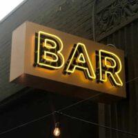 custom lighted bar sign