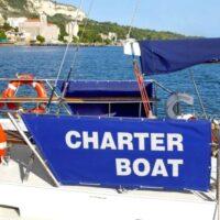 Boat promotional signage