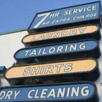 custom laundromat signage