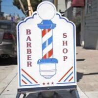 barber shop a-frame-sign